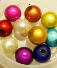 8mm coloured pearl mix x 10